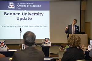 Dr. Chad Whelan, Banner – University Medicine CEO, offers update on Banner Health academic division with new hospital tower opening