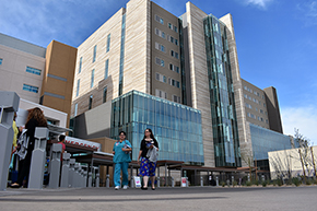Staff head to and from new Banner – UMC Tucson hospital tower morning open house