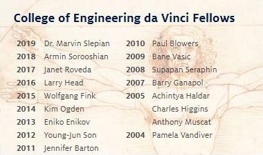 Winners of the UA College of Engineering's da Vinci Fellow honor