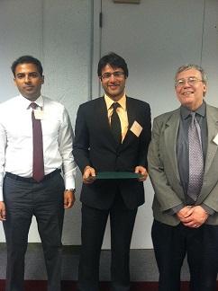 Dr. Irbaz Riaz with 'Rising Star' Award