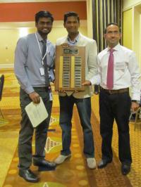 Winning Doctor's Dilemma team from South Campus – Balaji Natarajan, MBBS, Senthil Anand, MD, and Muhammad Husnain, MBBS