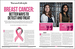Dr. Pavani Chalasani in Tucson Lifestyle article on breat cancer in October 2017