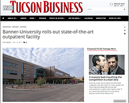 Banner - UMC North in Inside Tucson Business - 12-12-2017