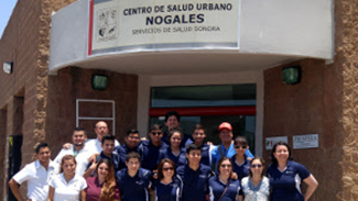 FRONTERA students participate in health education in Nogales, Sonora.