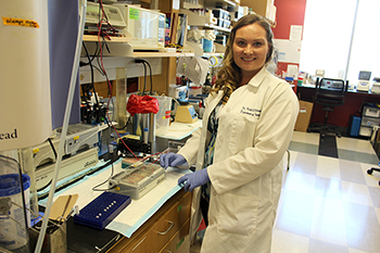 Dr. Nicole Bradley in Ahmad Lab at UA BIO5 Institute