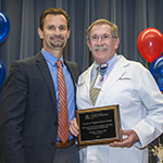 Robert Segal, MD (right), wins the 2018 Vernon & Virginia Furrow Excellence in Clinical Science Teaching, Undergraduate Curriculum award