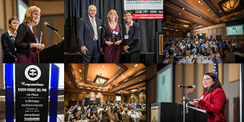 Collage of photos from 2018 Influential Health and Medical Leaders Awards banquet