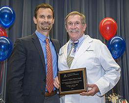 Dr. Robert Segal (right) with presenter Dr. Todd Vanderah