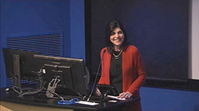 Personnel coordinator Terri Buchanan discusses application changes to Promotion & Tenure Guidelines