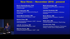 New faculty hires in UA Department of Medicine from November 2018 to March 2019