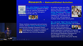 Department investigators also participate in multiple NIH activities, association-supported research and key federal funding programs