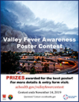 Flyer for 2019 Valley Fever Awareness Youth Poster Contest sponsored by Arizona Department of Health Services