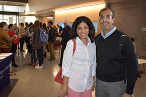 Drs. Rachna and Puneet Shroff at Shark Tank contest on COM-T Research Day 2019