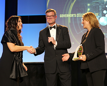 Louise Hecker, Steven Zylstra and Sandra Watson (Photo: Paul Tumarkin/Tech Launch Arizona)