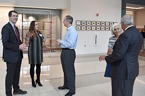Dr. Gordon Carr and other Banner executives greet new hospital tower open house attendees