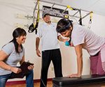 Trainers and participant in Restoring Balance exercise program designed for Native populations