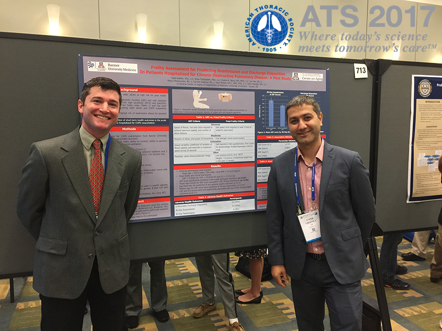 University of Arizona medical student Todd Golden  and Laith Ghazala, MD, Chief Resident, Internal Medicine
