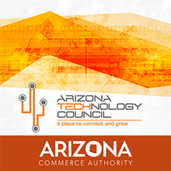 Logos for Arizona Technology Council and Arizona Commerce Authority, sponsors of Governor's Celebration of Innovation Awards & Expo