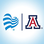 Banner Health blue heart and University of Arizona block A