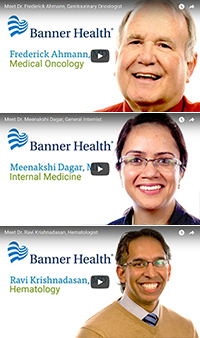 "Video profiles for Drs. Frederick ""Rick"" Ahmann, Meena Dagar and Ravi Krishnadasan"