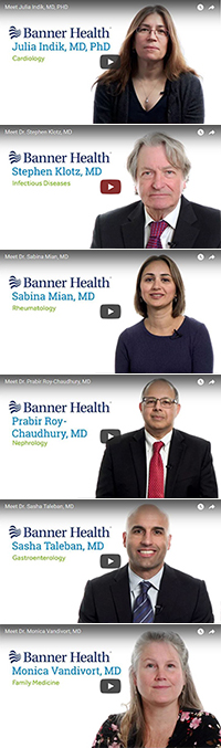 Video profiles for Drs. Julia Indik, Steve Klotz, Sabina Mian, Prabir Roy-Chaudhury, Sasha Taleban and Monica Vandivort