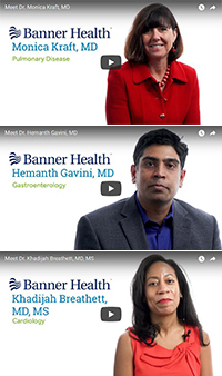Video profiles for Drs. Monica Kraft, Hemanth Gavini and Khadijah Breathett