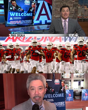 Image of outakes from Bear Down Luncheon video on KVOA News4 on May 8, 2019