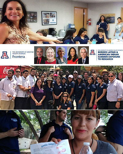 Collage from 2018 FRONTERA and BLAISER program participants and mentors