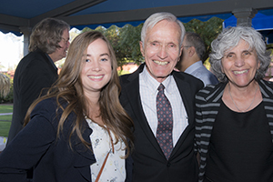 Student April Ehrlich with Drs. Jack Boyer and Mindy Fain