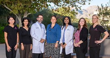 Dr. Pavani Chalasani with the rest of the Breast Cancer Team at the UA Cancer Center