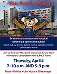 Image of flyer for UA-Banner staff open house April 4 for new Banner – UMC Tucson hospital tower