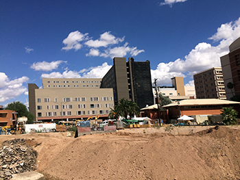Banner - UMC Tucson new hospital tower looking north