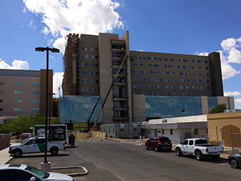 Banner - UMC Tucson new hospital tower looking south