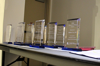 UA College of Medicine - Tucson Clinical Excellence Award trophies