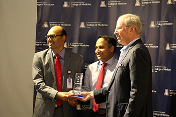 Drs. Bujji Ainapurapu, Tejo Vemulapalli and Irv Kron