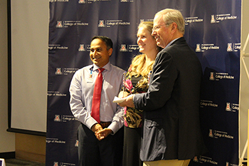 Drs. Tejo Vemulapalli, Monica Vandivort and Irv Kron