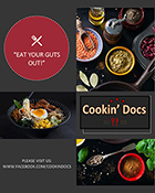 Image from Cookin' Docs brochure with ratatouille recipe and info on celiac disease