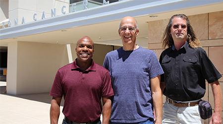 From left: Dr. Mark Nelson, Dr. Bernard Futscher and Lukas Vrba. (Photo: Paul Tumarkin/Tech Launch Arizona)