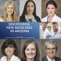 Discovering New Medicines in Arizona logo with UA Department of Medicine faculty participants