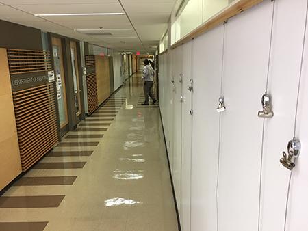 View northward of Medicine Art Wall on 6th floor of UA College of Medicine - Tucson