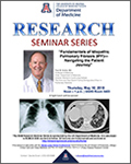 Image of flyer for Dr. Paul Noble's DOM Research Seminar lecture