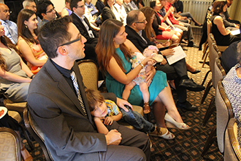 Dr. Anthony Witten and family await his award announcement