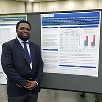 "Dr. Bailey with AASM abstract, ""Delayed Sleep Time in African Americans and Depression in a Community-Based Population,"" at SLEEP 2018 in Baltimore in June."