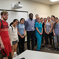 Dr. Bailey with some of his students at Pima Community College where he taught a medical bioethics class.