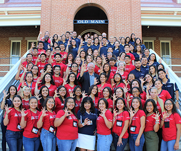 UA President Dr. Robert Robbins meets with FRONTERA, BLAISER and Med-Start students