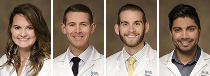 Drs. Morgan Bailey, Rory Bouzigard, John Dicken and Zain Mehdi