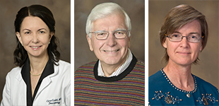 Drs. Clara Curiel-Lewandrowski, Laurence Hurley and Leslie Boyer