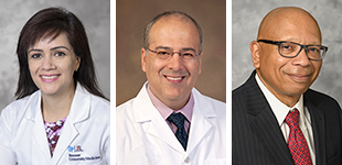 Excellence in Teaching Awards - Outpatient: Drs. Meena Dagar, Tirdad Zangeneh and Gene Trowers