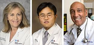Drs. Linda Garland, Samuel Kim and Daruka Mahadevan