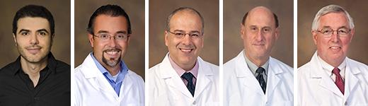 Excellence in Teaching Awards - Inpatient: Drs. Ahmad Al-Khashman, JP Ferreira, Tirdad Zangeneh, Joe Alpert and Karl Kern